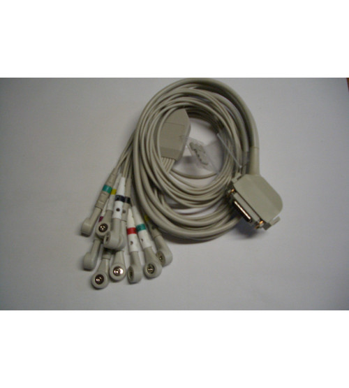 ECG complete cable (10-lead) with snap
