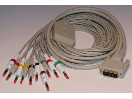 ECG complete cable (10-lead) with 4mm banana connector