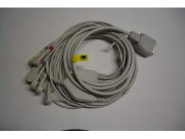 EKG-Komplettkabel, 10-adrig, mit Druckknopf