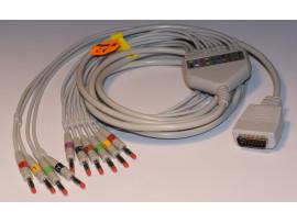 EKG-Komplettkabel, 10-adrig, Bananenstecker
