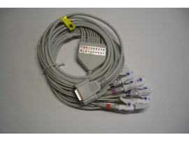 ECG complete cable 10 lead with Clip / Grapper