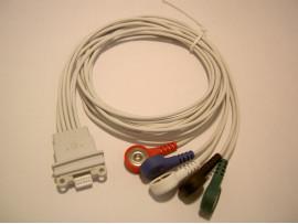 Schiller AR4+ AR-12+ FD-5+ LZ-Kabel 5-adrig (EKG-Kabel zur Montage im Langzeit-EKG-Aufnahmerekorder)