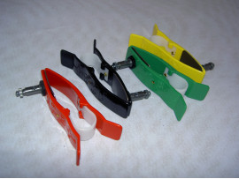 Limb clamp ecg electrodes Ag/AgCl,  Set of four pieces coloured, red, black, green, yellow